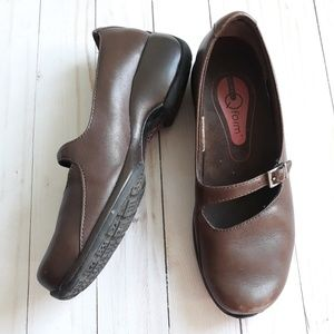 Merrell Q Form Leather Brown Mary Jane Shoes 7.5